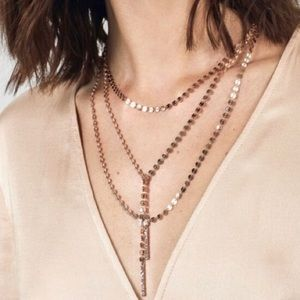 Baublebar Amber Gold Lariat Necklace